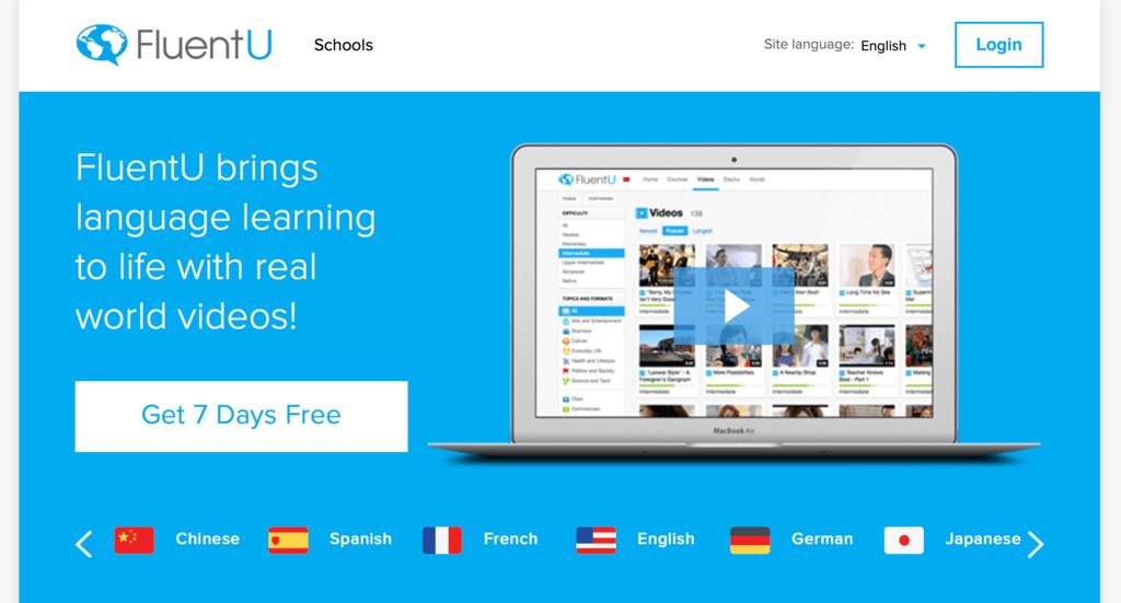 Phần mềm FluentU
