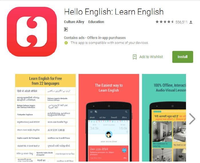 Phần mềm học tiếng Anh miễn phí hay Hello English