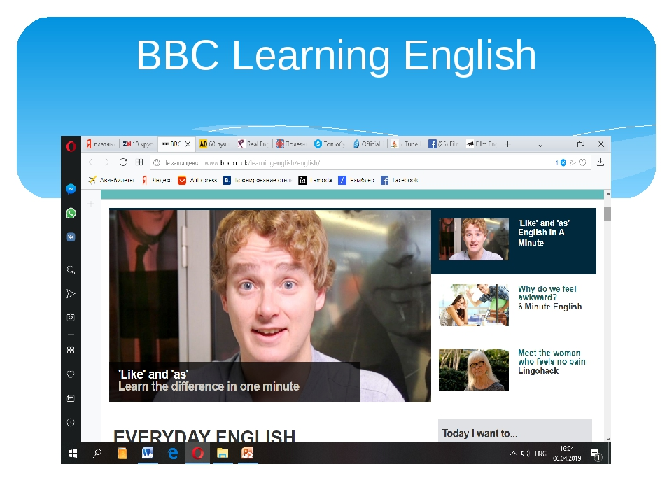 Giao diện BBC Learning English