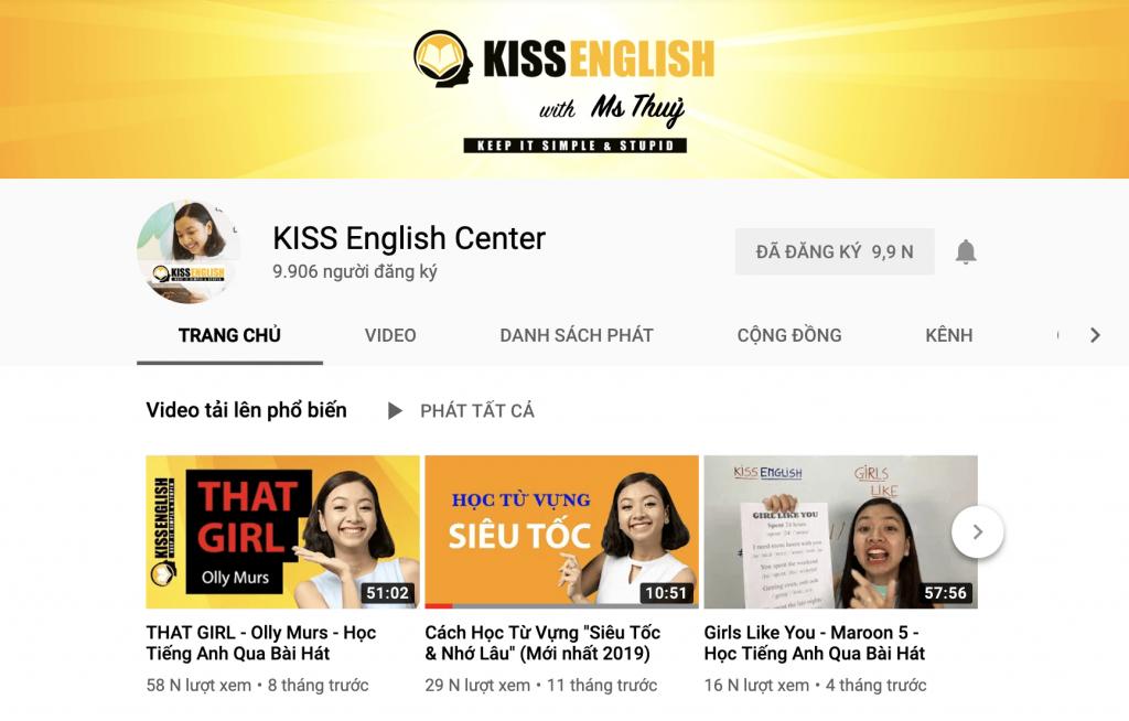 Học tiếng Anh online hiệu quả với kênh Youtube KISS English