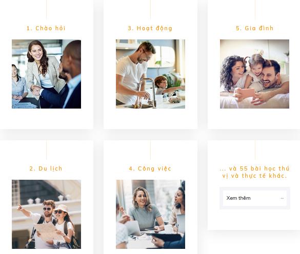 Start Your English gồm 60 video đa dạng chủ đề để học tập